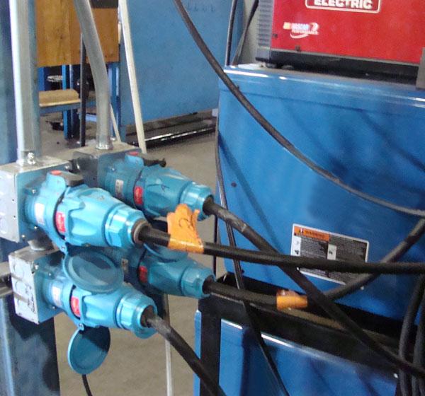 power distribution to welder