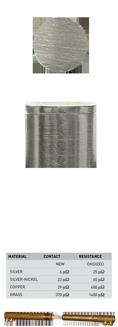 silver-nickel contact tip