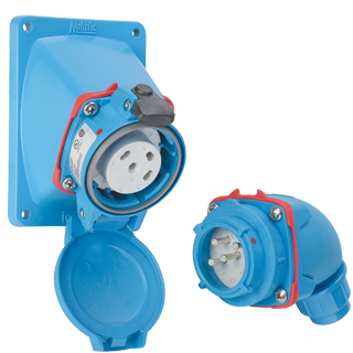 pn standard duty plug and receptacle