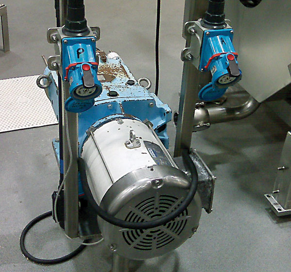 Motor connections used in a pickle processing plant
