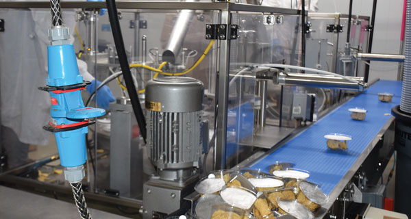 MELTRIC Cord Drop on Food Packaging Line